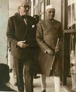 Le  Corbusier with Shri Nehru